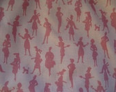 Pink Lady Cotton Print Fabric - 6 3/4 Continuous Yards