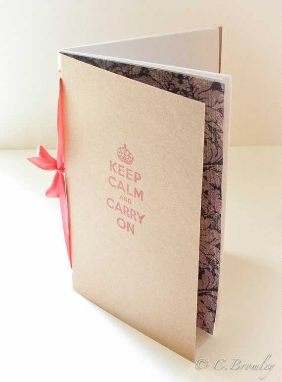 Keep Calm & Carry On Moleskine Style Notebook - Journal - Back to School - Sketchbook
