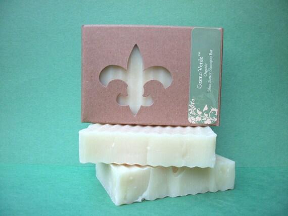 ORGANIC Shea Butter Shampoo Bar - VEGAN - Handmade