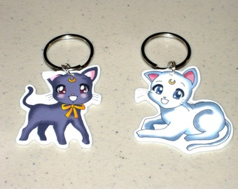 Luna and Artemis - Sailor Moon Keychain