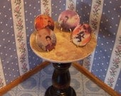 "dollhouse scale ""collectable plates"" set of four elvis plates with stands"