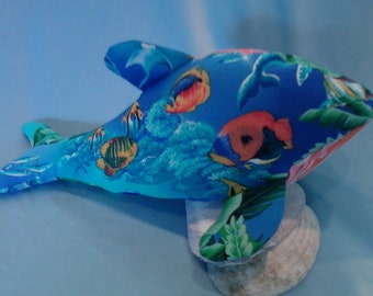 Tropical Whale Stuffed Pet, Toy, Soft Sculpture