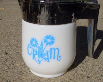 Vintage Milk Glass Creamer