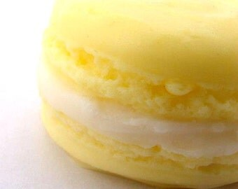 Lemon French Macaroon Soap - Cream filled