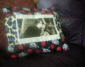 The Munsters retro patchwork cushion alternative goth home decor halloween pillow
