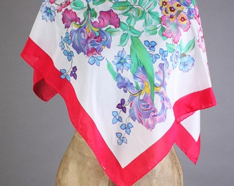 Vintage Multicolor floral scarf