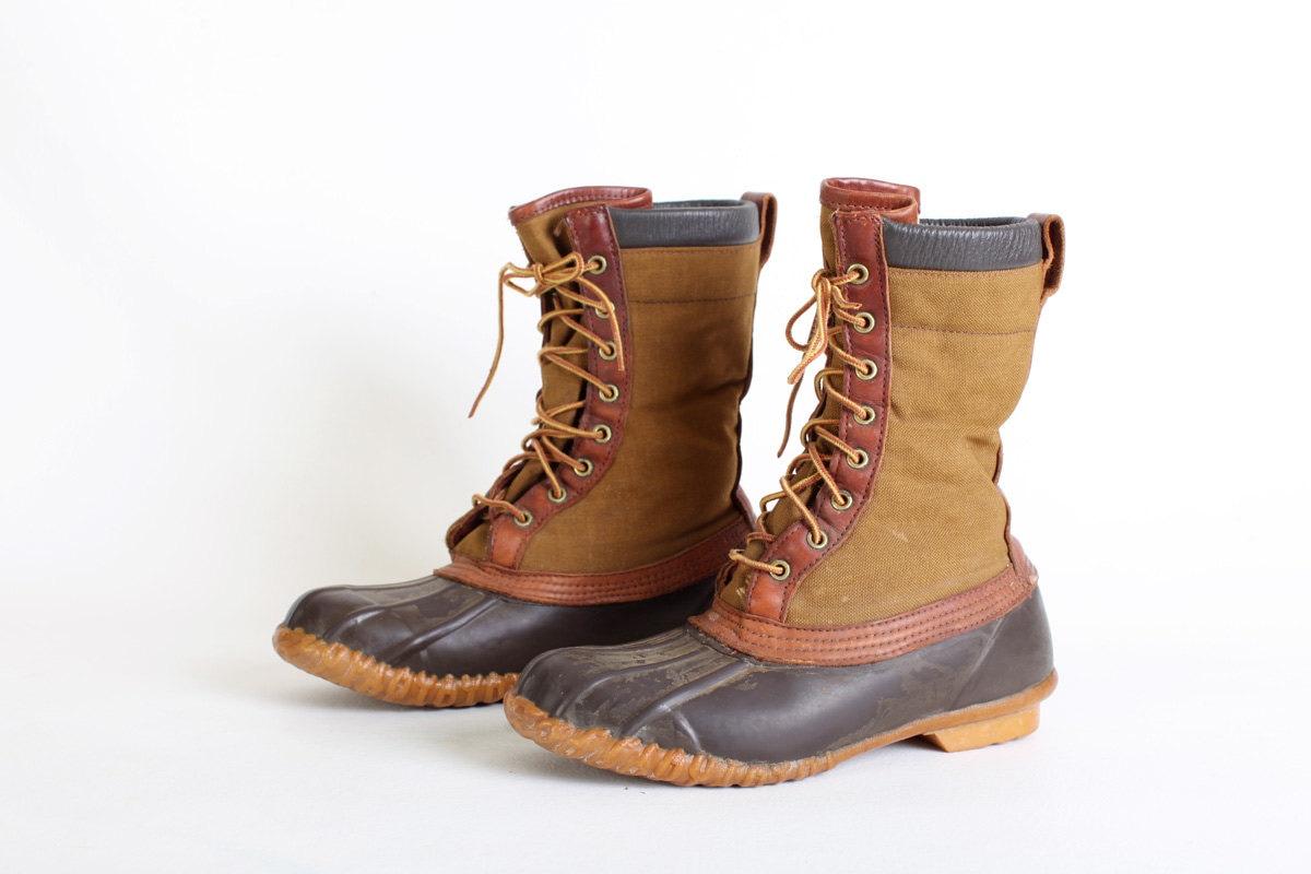 Size 8 Men's Duck Boots Size 9 Women's Duck Boots