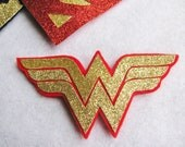 Sparkling Wonder Woman Superhero Hair Clip