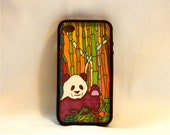 It's Going to be Panda-Monium, Iphone case, Iphone cover, Iphone 4/4s, panda bear, purple, green, orange, yellow, Chinese, alpha phi gamma