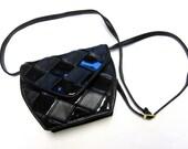 Black Purse Handbag Glossy Firmsided Hardsided Shiny Shoulderbag