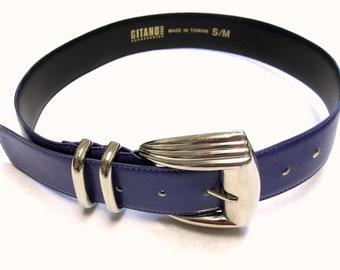 Wide Purple Cinch Belt Vintage 80s Gitano Fashion Womens Size S M