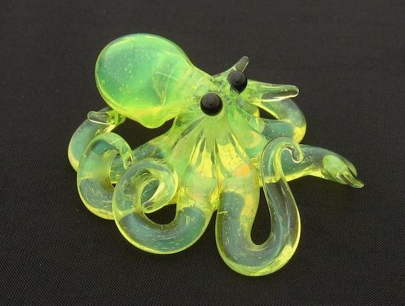 Small Glass Octopus pendant Radioactive Ooze