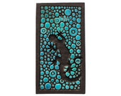 textured lizard wall hanging - jade turquoise - home decor - gecko - wall decor- wall art - reptile - homewares