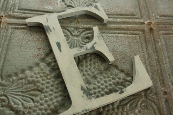 "6"" distressed wooden letter nursery decor- CHOOSE color/letter"