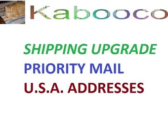 Upgrade Shipping to Priority Mail for U.S. addresses and 1 day max handling