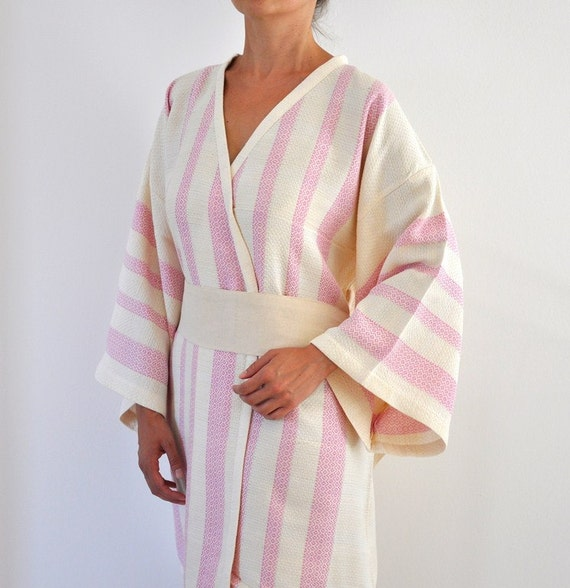 Kimono Robe Bath Tobe Bathrobe Peshtemal Robe Turkish Bath Towel Caftan  Cotton Eco Friendly Extra Soft ee3599fab