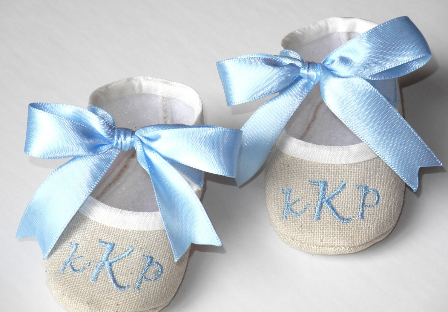 Christening Booties Baby Boy Baptism Shoes by KayLaneSisters