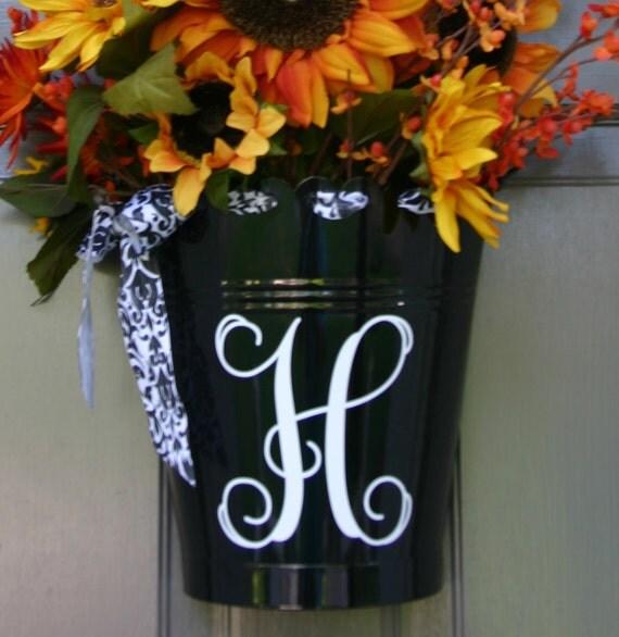 Personalized Door Flower Bucket