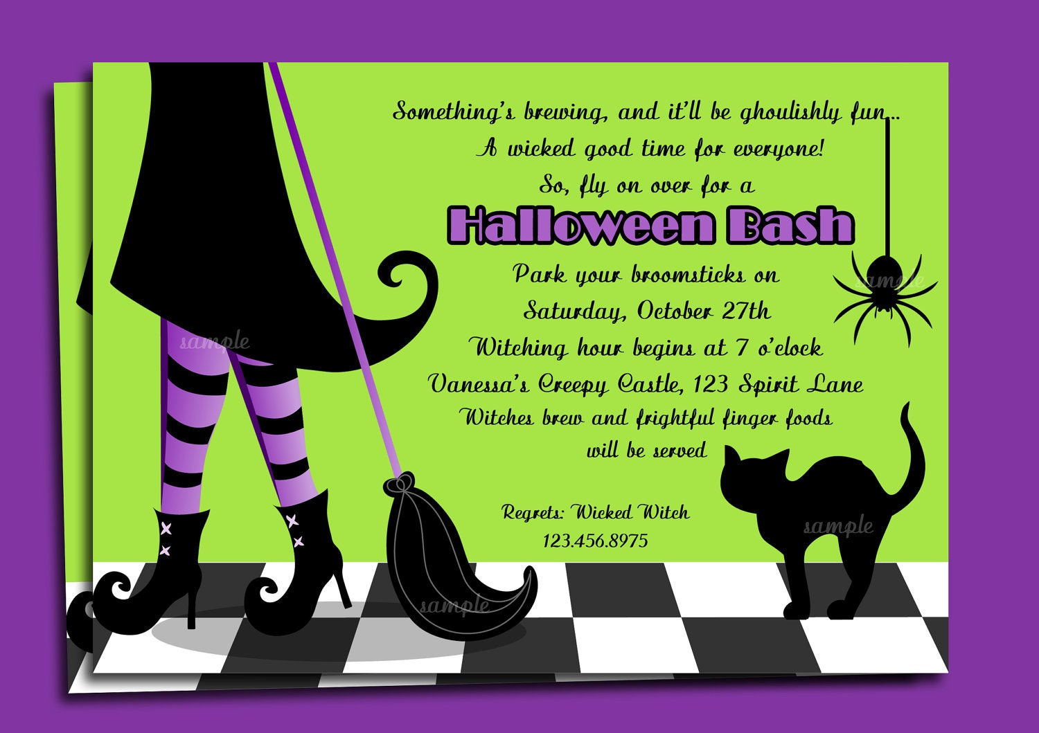 halloween party verbiage