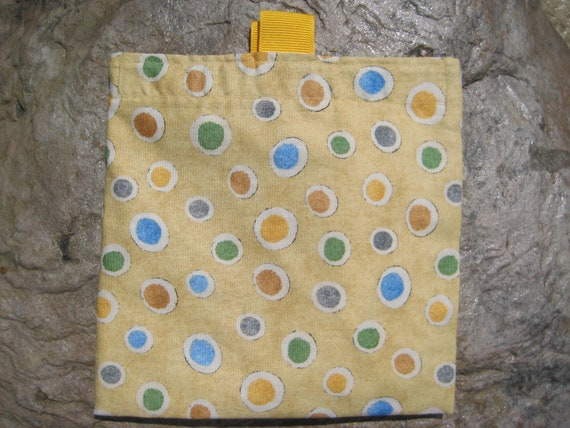 Circles - SET of 2 -Reusable Sandwich Bags and Snack Bags