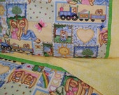 Toddler girl bedding crib sheet set 3 pc nursery Whistlestop Station bedding girl nursery infant bedding