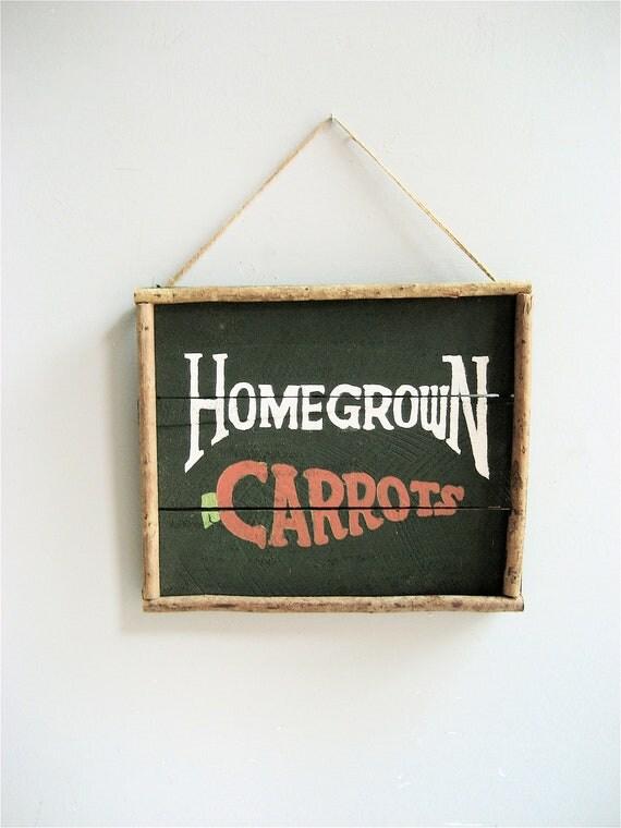 Vintage Carrots Sign
