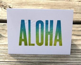 Aloha Letterpress Single Card