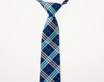 Toddler Necktie - Navy Plaid