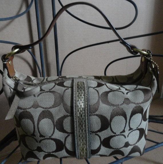 Vintage Coach Handbag ,Signature Small Baguette Purse