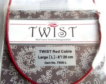 ChiaoGoo TWIST Interchangeable Cables - Sizes to Make 16 - 60 Inch Circulars