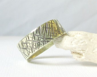 Rustic Ring- Brass Gold Band Ring