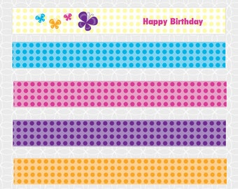 Party Printable Butterfly Party Birthday Theme Mini Flags