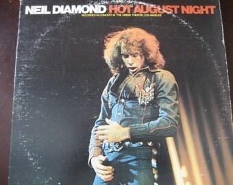 Vintage Neil Diamond Hot August Night Double LP Album