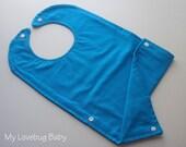 Set of 7 Solid Color Toddler Bibs with Fold-up Pocket
