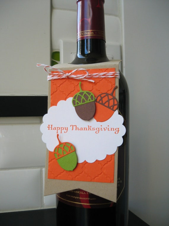 Wine Bottle Gift Tag Thanksgiving