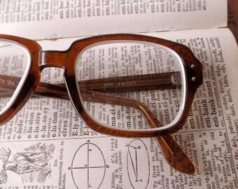vintage USS tortoise shell eyeglass frames-  military, glasses, 1980s