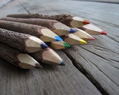 Set of 10 Assorted Wooden Color Pencils Playful Drawing Gift for Kids