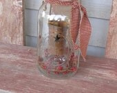 Half gallon ball mason jar votive candle holder