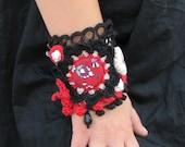 Free form crochet Cuff