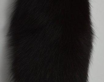 black fox Fur Tail Key Chain