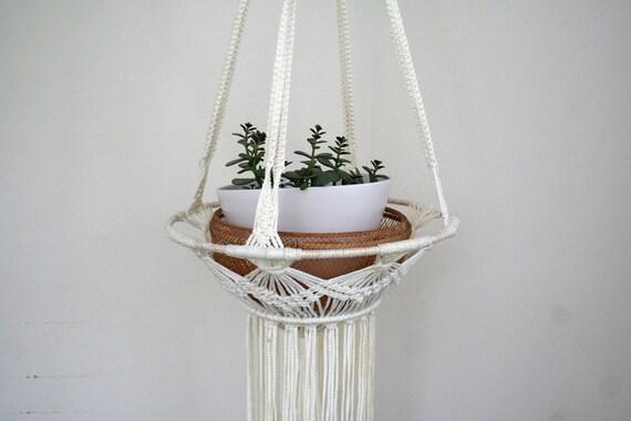 70s Macrame hanging planter