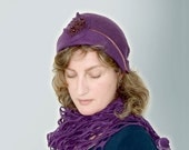 Hat Women 30s  Spring Fashion  Violet Purple