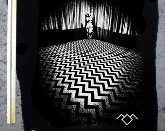 Twin Peaks backpatch BLACK LODGE punk laura palmer dale cooper