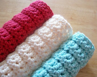 Twisted Knots Luxurious Spa Cloth Exfoliating Washcloth Crochet Pattern PDF