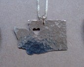 Washington State Necklace (sterling silver)
