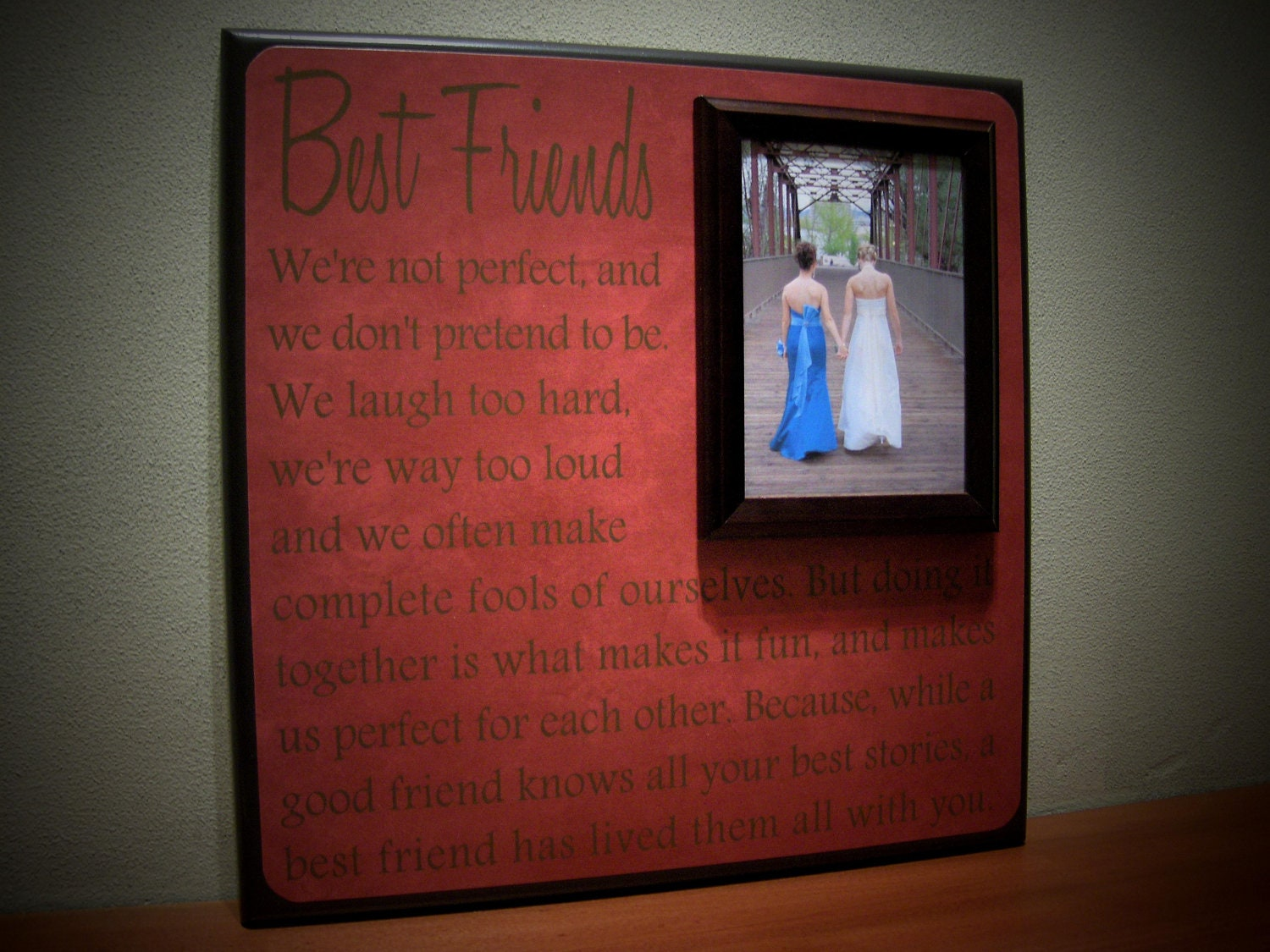 Perfect Wedding Gift For Sister: Best Friends Wedding Frame Maid Of Honor By YourPictureStory