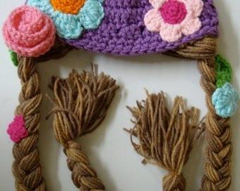 Rapunzel Hat Crochet Pattern PDF Instant Download