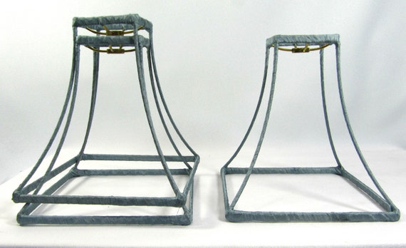 Lamp Shade Frames Square Bell for Table Wire Hand Made NYC 3 Pieces