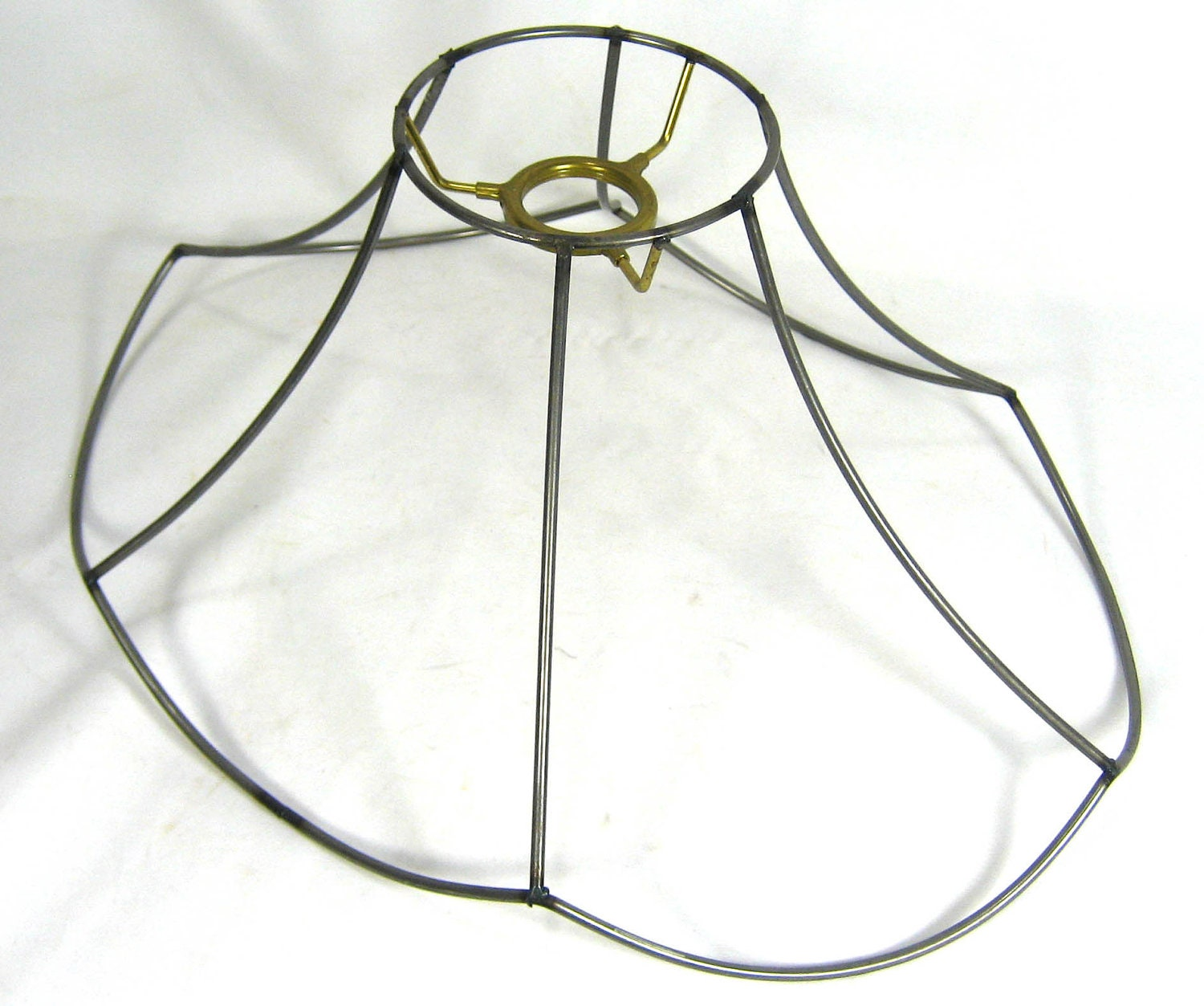 Lamp Shade Wire Frame Scallop Oval Bell Made Ny