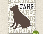 11X14 Custom Dog Silhouette Print Vertical - The PERFECT GIFT